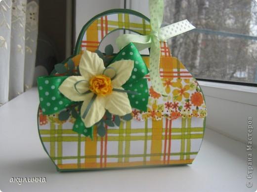 "Подарочная упаковка ""сумочка"" фото 2"