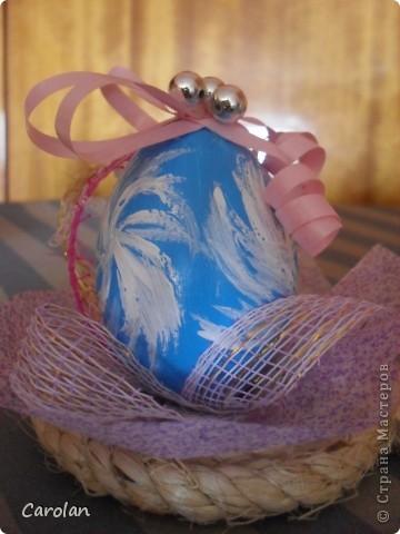 Пасхальное яйцо. Расписано акриловыми красками фото 2
