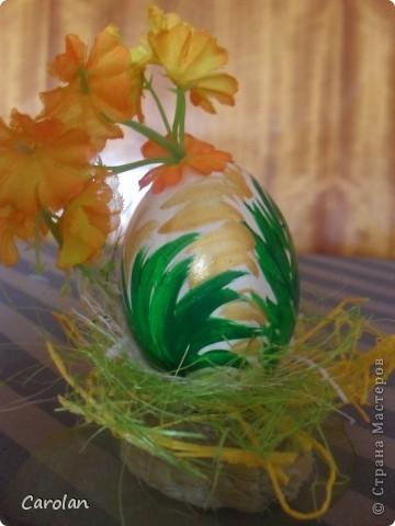 Пасхальное яйцо. Расписано акриловыми красками фото 4