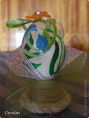 Пасхальное яйцо. Расписано акриловыми красками фото 8