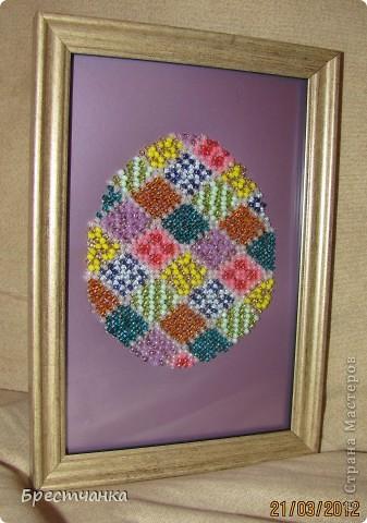 Картина панно рисунок Вышивка Пасхальная вышивка бисером Бисер Бумага Картон фото 3.