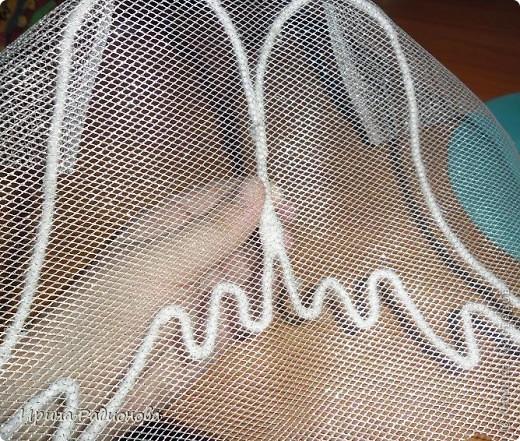 Мастер-класс Поделка изделие Ангелочек Васена Бусины Бутылки пластиковые Капрон Кружево Ленты Сетка Сутаж тесьма шнур Ткань фото 14