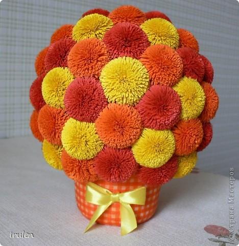 Цветочные шар пошаговое