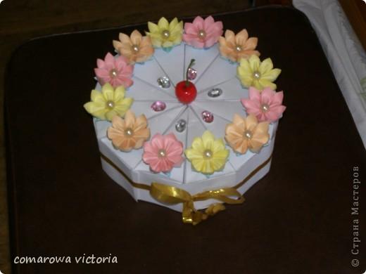 Внеклассная работа День рождения Квиллинг праздничный торт Бумага фото 3.