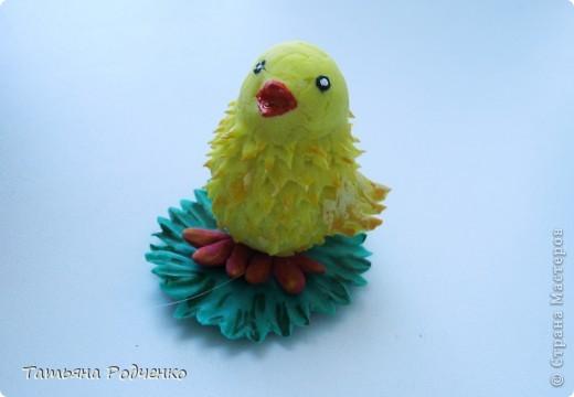 Добрый день!!!  Решила показать своего цыплёнка Кроху. Вылеплен он из остатка холодного фарфора, которому уже почти два месяца))) Прежде, чем выбросить, решила попробовать... И вот что получилось) фото 8
