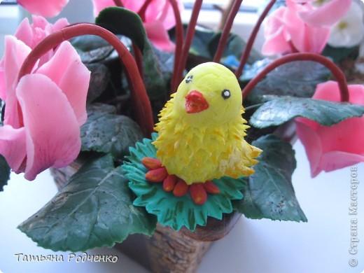 Добрый день!!!  Решила показать своего цыплёнка Кроху. Вылеплен он из остатка холодного фарфора, которому уже почти два месяца))) Прежде, чем выбросить, решила попробовать... И вот что получилось) фото 11