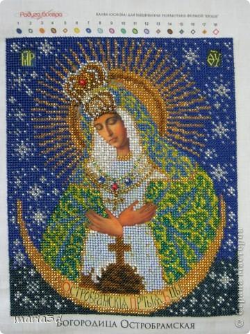 Вышивка иконы Богородица