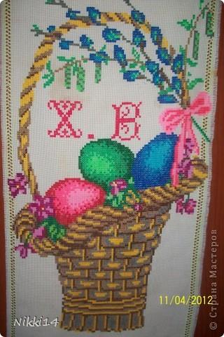 Салфетка и  Пасхальная корзинки с декором. фото 2
