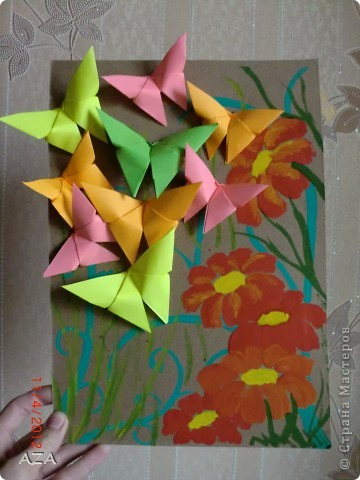 Картины из оригами