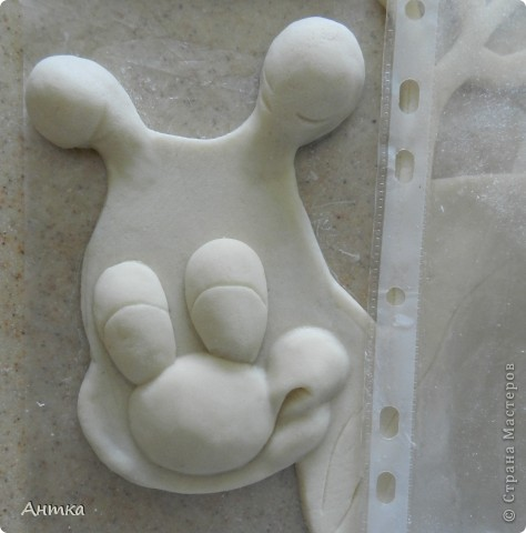 Картина панно рисунок Лепка Рогатый пень Тесто соленое фото 8