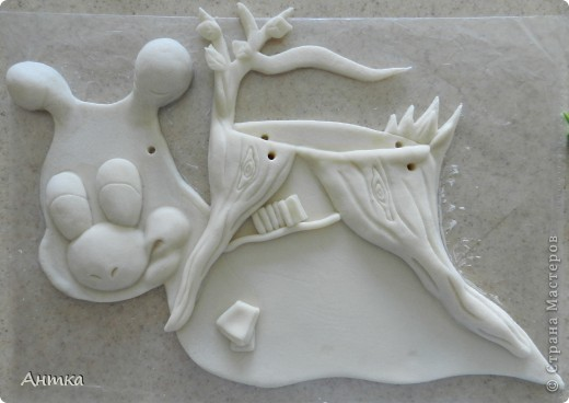 Картина панно рисунок Лепка Рогатый пень Тесто соленое фото 10