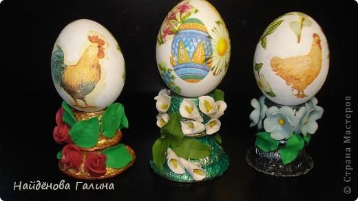 Мастер-класс Пасха Лепка Подставки под пасхальные яйца своими руками Салфетки фото 12