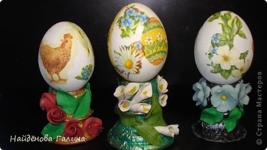 Мастер-класс Пасха Лепка Подставки под пасхальные яйца своими руками Салфетки фото 1
