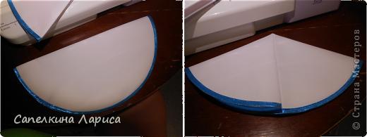 Всем доброго времени суток. Я снова с пасхальными атрибутами. Сегодня представляю небольшой МК по изготовлению салфетки для кулича и яиц. Для салфеток я использовала (шила сразу две): 1. ткань «бостон», она плотноватая (типа плащевки) и держит форму; 2. косая бейка 2,5 м – розовой, 3 м голубой; 3. нитки голубые, розовые, белые; 4. тонкие атласные ленты.  фото 6