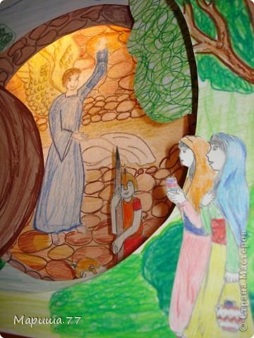 Вот такую поделку к Светлому празднику сделали детки в воскресной школе.Работа совместная.Моя идея (подсмотренная у Ольга Попова в Стране Мастеров) и окончательная сборка. фото 3