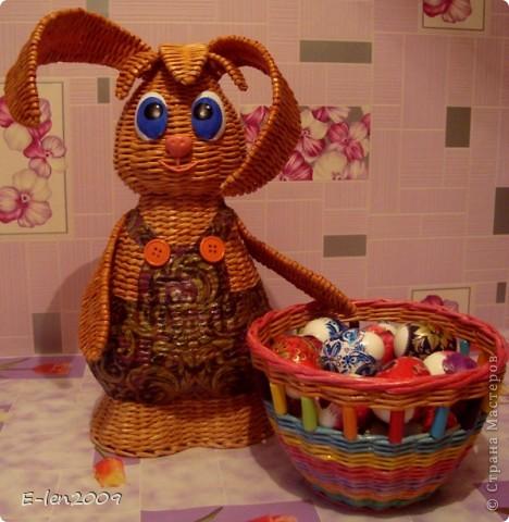 Ура!!! Я успела к Пасхе закончить своего пасхального кролика!!!Хотела выложить завтра,но завтра у  меня день рождения:))))И точно будет некогда. фото 1