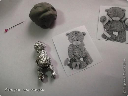Делаем мишку Тедди из полимерной глины фото 5