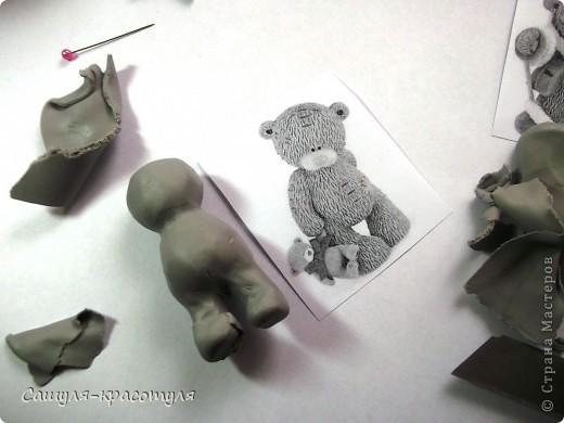 Делаем мишку Тедди из полимерной глины фото 6