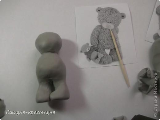 Делаем мишку Тедди из полимерной глины фото 7