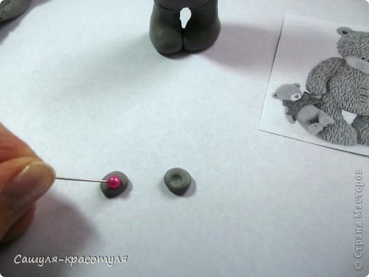 Делаем мишку Тедди из полимерной глины фото 8