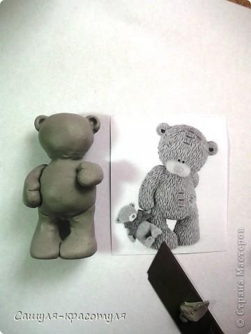 Делаем мишку Тедди из полимерной глины фото 9