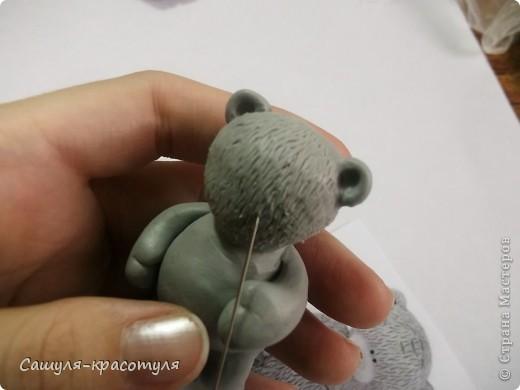 Делаем мишку Тедди из полимерной глины фото 10