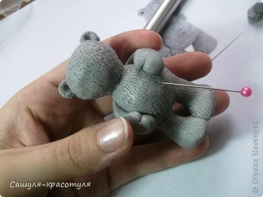 Делаем мишку Тедди из полимерной глины фото 11