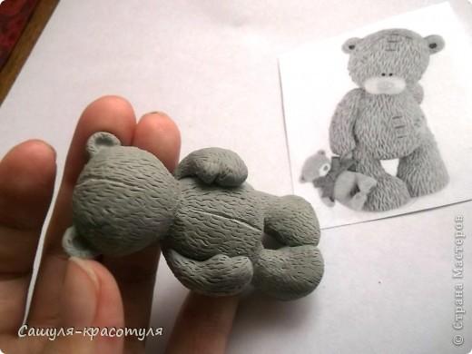 Делаем мишку Тедди из полимерной глины фото 12