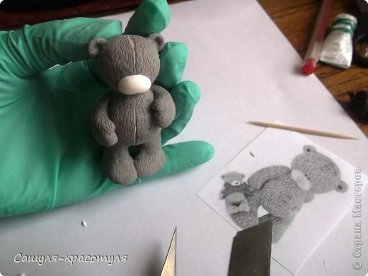 Делаем мишку Тедди из полимерной глины фото 14