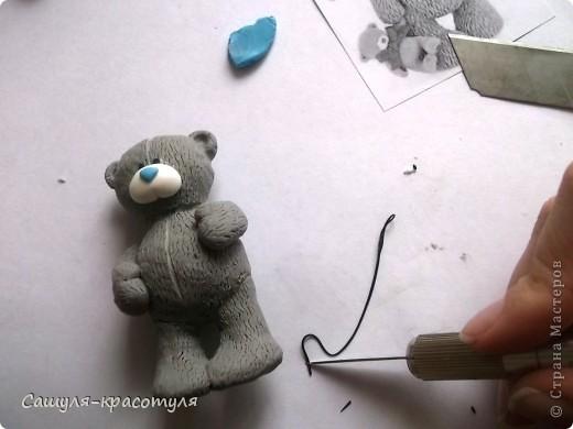 Делаем мишку Тедди из полимерной глины фото 16