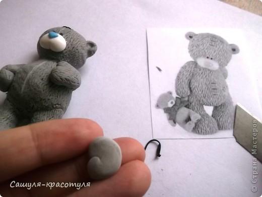 Делаем мишку Тедди из полимерной глины фото 17