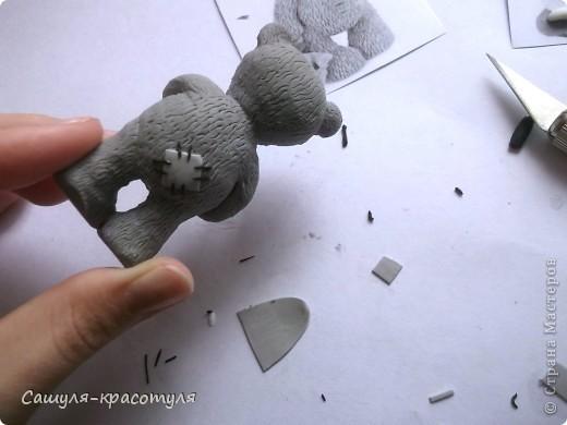 Делаем мишку Тедди из полимерной глины фото 18