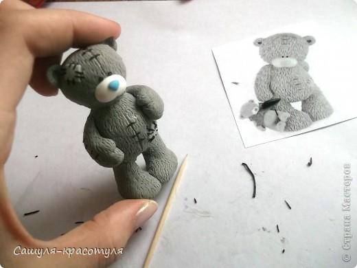Делаем мишку Тедди из полимерной глины фото 19