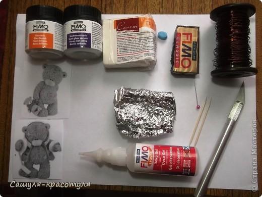 Делаем мишку Тедди из полимерной глины фото 2