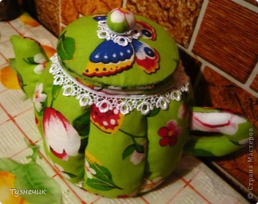 Вот нашила чайничков еще, вообще-то их было 3, но один уже подарен фото 5