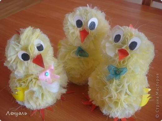 Фото цыплят поделки