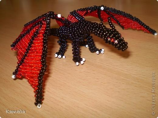 Игрушка Поделка изделие Бисероплетение Мои Драконы Бисер фото 1.