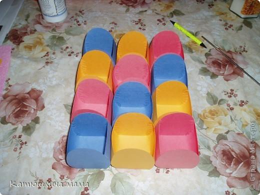 Здравствуйте! Решила показать мои пасхальные корзиночки под яйца. Мастер-класс увидела где-то на просторах интернета уже давно, так что если вдруг в СМ подобные корзинки уже есть, прошу прощение за повторение. фото 7