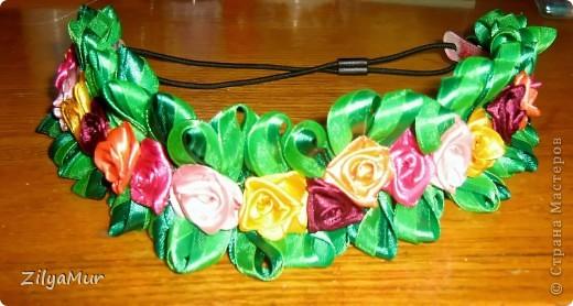 Ободки из цветов своими руками из атласных лент