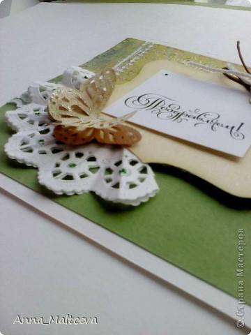 Привет всем! Еще одна открытка у меня появилась и подарилась маме) фото 4