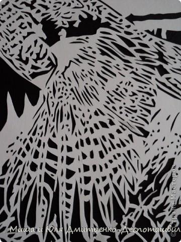 Картина панно рисунок Вырезание Фазан и легенда о Тбилиси Бумага Картон Клей фото 3