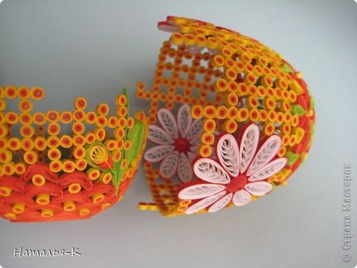 Поделка изделие Пасха Квиллинг Квиллинговое яйцо Бумажные полосы фото 3