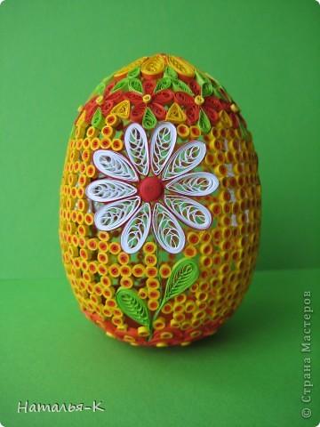 Поделка изделие Пасха Квиллинг Квиллинговое яйцо Бумажные полосы фото 1