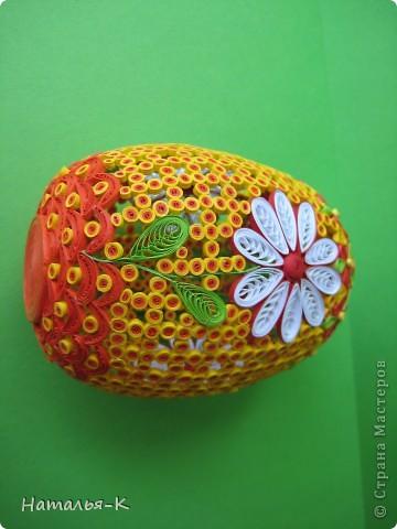 Поделка изделие Пасха Квиллинг Квиллинговое яйцо Бумажные полосы фото 7