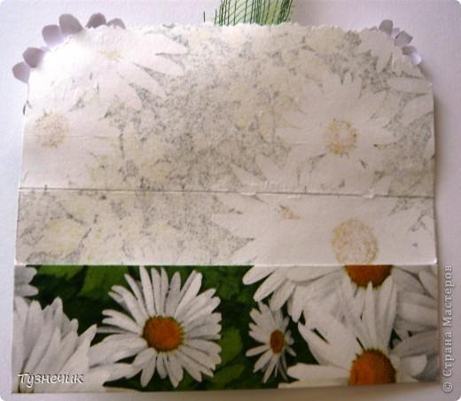 Вот такая получилась ромашковая открыточка...денежный конвертик фото 2