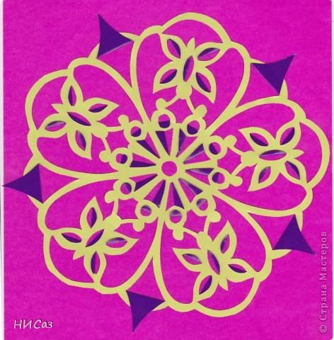 Картина панно рисунок Вырезание Бабочки-мандалы Бумага фото 1.