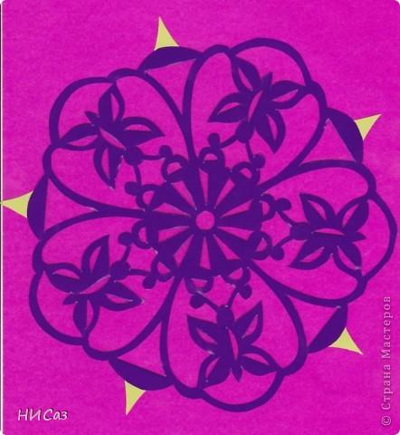 Картина панно рисунок Вырезание Бабочки-мандалы Бумага фото 2.