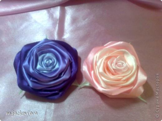 Цумами Канзаши - Комплект Инь-янь и снова розы.