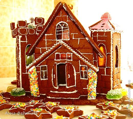 Моя подруга https://stranamasterov.ru/user/168074 подарила мне настоящий пряничный замок! фото 4