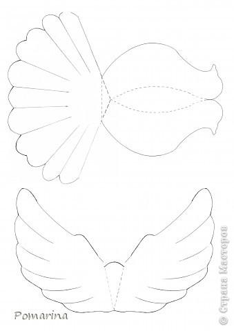 Бумагопластика Голубь из